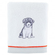 Drap de bain coton chien Puppy blanc