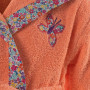 Peignoir enfant coton brodé à capuche AMBRE corail