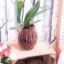 Vase en verre ciselé DECO ROUGE