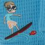 Peignoir enfant EDDY BLEU