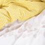 Housse de couette percale de coton brodée fleurie Ginkgo