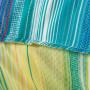 Taie d'oreiller rectangulaire percale de coton rayures multicolores Holi - 3