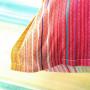 Taie d'oreiller rectangulaire percale de coton rayures multicolores Holi - 2
