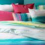 Taie d'oreiller rectangulaire percale de coton rayures multicolores Holi - 6