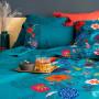 Housse de couette lin et coton imprimé motif floral indien Indie  - 1