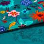 Housse de couette lin et coton imprimé motif floral indien Indie  - 2