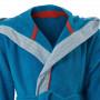 Peignoir enfant coton brodé à capuche LOHAN bleu
