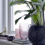 Vase sablier rose en verre DECO