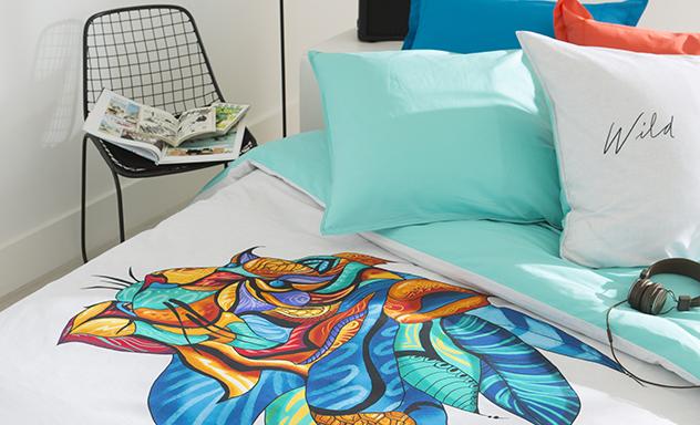 Parure de lit et linge de lit de qualit pour adolescents carr blanc - Couvre lit ado garcon ...