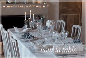 Pour la table