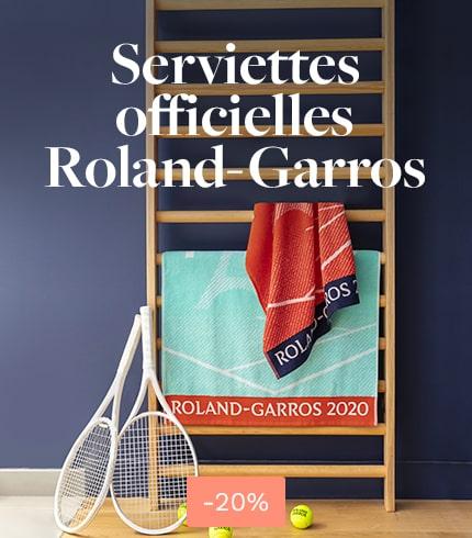 Serviettes joueurs/joueuses Roland-Garros