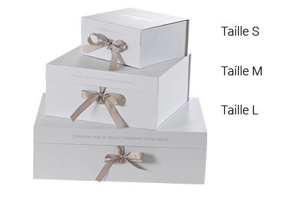 emballages cadeaux boite